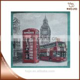 telephone booth and bus pattern high quality jacquard fabric cotton fabric cushion cover hand bag material