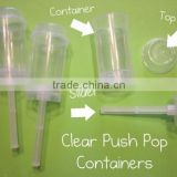 New! Hot ! Plastic Push Up ice cream storage containers