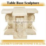 Table base sculpture, decorative table sculpture, granite sculpture base