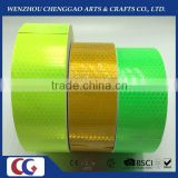 fluorescent yellow and green vehicle adhesive reflective warning tape,traffic reflective sheeting