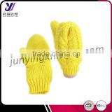 High quality warm winter bright woolen felt knitted gloves factory wholesale sales (accept the design draft)