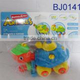 Plastic animal toy funny take apart pull line cartoon turtle toy