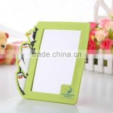 Factory wholesale double holding photo picture frame/plastic picture frame