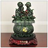Resin jade color monkey elephant statue ,chinese zodiac statue