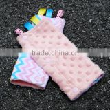 Europe Fashion High Quality Colorful Chevron Baby Girl Lt Pink Drool Pad for Carrier