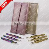 Gold plated and Multi plasma coated Eyelash Extension Tweezer Kit