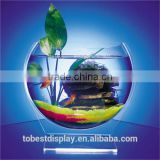 luxury deskto mini customized wholesale acrylic fish bowls/acrylic fish tank/acrylic fish aquarium