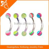 Double Side Acrylic Bar Eyebrow Ring Rook Piercings Rook Piercing Body Jewelry