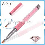 ANY Nail Art Beauty Care Pink Rhinestone UV Gel Nail Polish Brush Micropainting