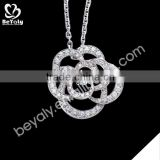 hot sale jewelry 2015 925 sterling silver skull necklace