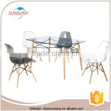 China gold supplier design outdoor slate dining table set