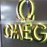 Shopping mall stainless steel LED backlit word signage