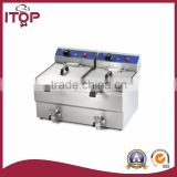 Double tanks 22+22L pressure kfc chicken fryer for sale