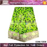 No MOQ online wholesale high quality guipure velvet african wedding lace fabric multicolor