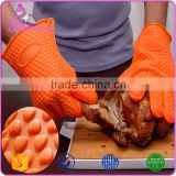 Factory Whosesale Non-stick Silicone Heat Resistant BBQ Grill Gloves Silicone Oven Gloves                                                                         Quality Choice