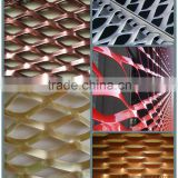 cutomised aluminum and stainless steel expanded metal wire, exterior decorative building facade mesh, aluminum expanded metal