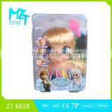 2015 New !Eco-friendly PVC half body princess doll with music+cosmetics Barbie Doll (2 Model Mixed)