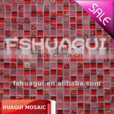 Good quality mosaic tiles with red glass mosaic mix marble hot sales mosaic tiles HG-815191