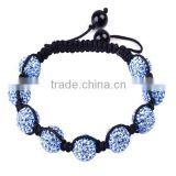 SRB0012 Top Selling Products 2015 Light Blue Adjustable Band Bracelet Buddhas Eyes Soft Ceramic Beads Bracelet