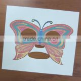 Safety Easily Use and Peel Away CMYK Butterfly Temporary Face Mask Tattoo Stickers for Make up
