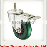 Medium Duty Double Ball Bearing PVC Screw Bracket caster wheels