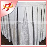 wholesale jacquard curly willow table skirt for weddings