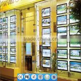 Cable Led Light Box A3 Real Estate Logo Display Window Advertising Illuminated Signboards