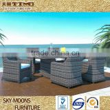patio bistro wicker outdoor dining set dining rattan table and chair(TC071)