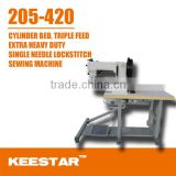 Keestar 205-420 cylinder bed walking foot and needle feed,heavy duty shoes leather bag sewing machine