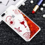 Custom Printed for Girls TPU Funky Transparent Liquid Glitter Quicksand Mobile Case for iPhone 6/7 Plus Phone Cover