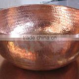 Wholesale Copper Hammered Manicure Shiny polish Bowls for Spas & Saloon