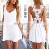 European and American Summer lady Casual Sleeveless Party Evening Cocktail Short Mini Dress
