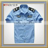CUSTOM BLUE COLOR SHORT SLEEVE SECURITY PERSONNEL WORK SHIRT