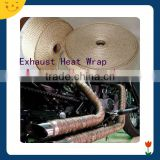 Motorcycle universal high temperature woven exhaust heat wrap