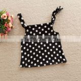 Dots Printed Summer Sleeveless Cotton Baby Tops