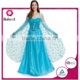 Fast delivery frozen elsa coronation dress costume cosplay for adult elsa frozen costume