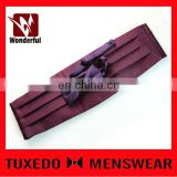 100% polyester wholesale price waistband and bow tie set