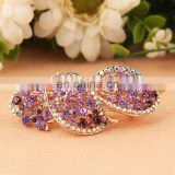 Wig Shape Latest Fashion Rhinestone Barrette Hair Clip