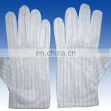 PVC on glove palm,10mm Polyester fabric,esd dotted gloves