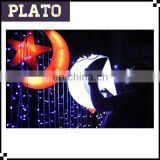 Moon and star shaped inflatable cartoon item for christmas decoratoin