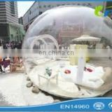 China inflatable christmas bubble snow globe/snow globe inflatable/christmas snow globe