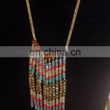 NEW Premier Designs jewelry Necklace Tassel Turquoise Coral Gold