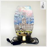 Qin Yuan art desk lamp, creative lamp, decorative table lamp, LED table lamp, American cultural series lamp (Dusa006)