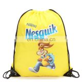 Custom polyester anime drawstring sport backpack bag for basketball