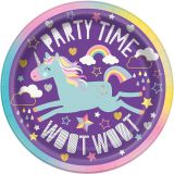 ZP001 Unicorn party kids birthday occasion custom design 8pcs Custom Printed party paper plate Unicorn party paper plate
