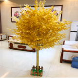 looking real 2meter small artificial golden banyan tree