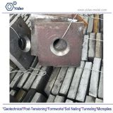 steel connectors/flat and domed anchor plate square/ concrete anchor plates for thread steel bars system