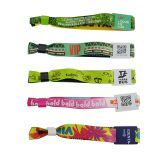 13.56M Ultralight Custom Printing NFC Fabric Wristband  festival wristbands for sale