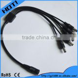 5 way splitter 2 core dc power cable