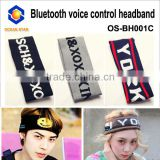 Promotion !!! Newest Design Hand free Bluetooth headband/sports sweatbands for Smartphone